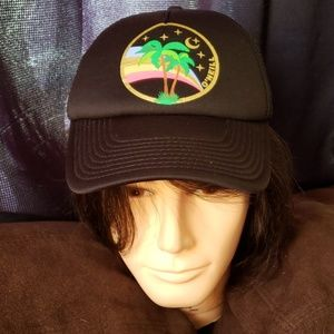 O'Neill palm tree rainbow cap/ trucker hat